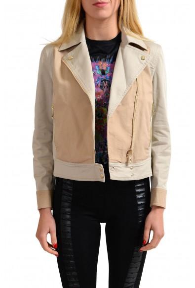 Versace Jeans Beige Women's Full Zip Basic Jacket
