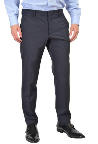 Prada Men's Black Flat Front Wool Pants