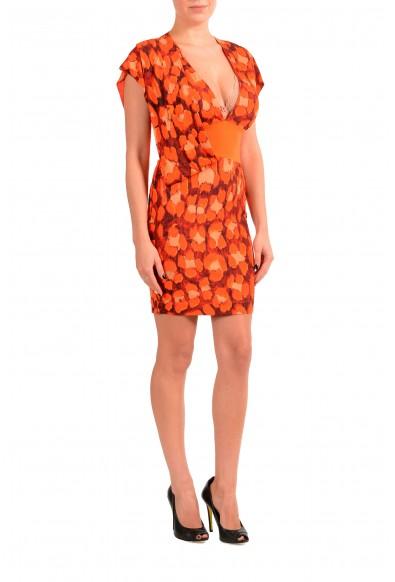 Just Cavalli Women's Multi-Color Cup Sleeve Sheath Dress: Picture 2