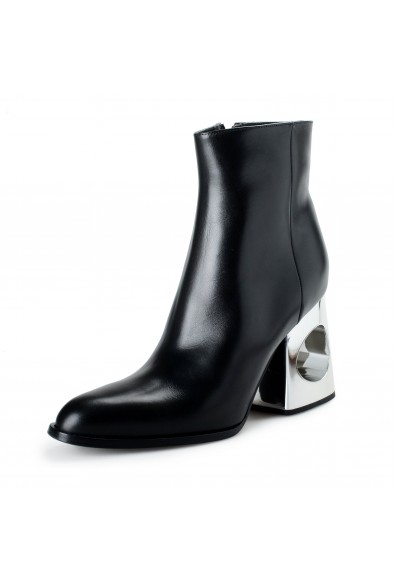 Marni Women's Black Leather Heeled Ankle Boots Shoes