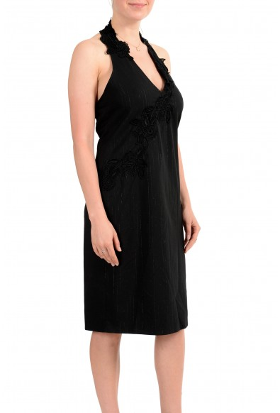 Exte Women's Gray Wool Striped Halter Dress : Picture 2