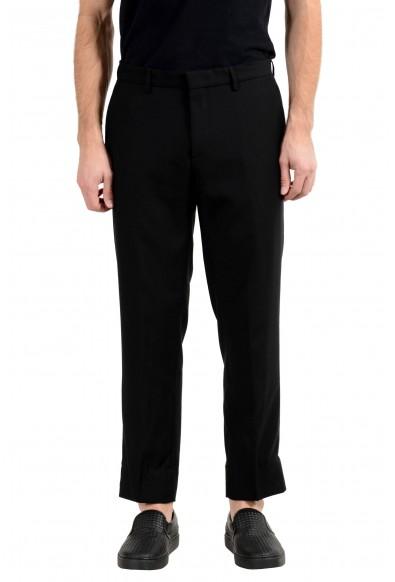 """Hugo Boss """"Gains-WG"""" Men's 100% Wool Black Slim Dress Pants"""