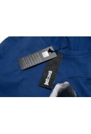 Just Cavalli Men's Blue Graphic Print Crewneck T-Shirt: Picture 4