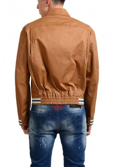 Salvatore Ferragamo Men's Brown Full Zip Windbreaker: Picture 2
