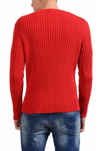 Malo Men's Red Heavy Knitted Crewneck Sweater: Picture 2