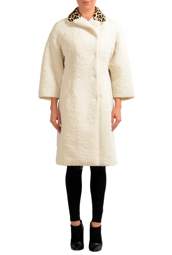Maison Magiela Off-White Double Breasted Women's Oversized Basic Coat