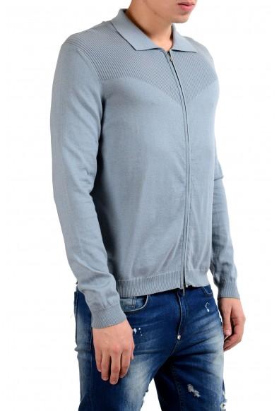 Malo Stone Blue Men's Cashmere Full Zip Sweater: Picture 2