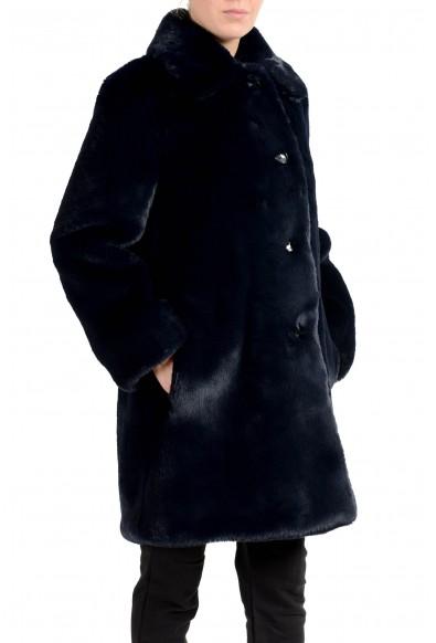 "Burberry Women's ""Tenbridge"" Dark Blue Faux-Fur Coat: Picture 2"