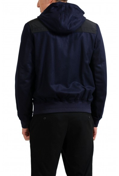 Christian Dior Men's Blue 100% Wool Full Zip Hooded Jacket: Picture 2