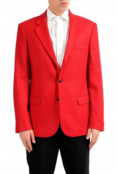 Versace Men's 100% Wool Red Two Button Blazer Sport Coat