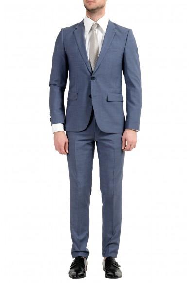 """Hugo Boss """"Astian/Hets"""" Men's 100% Wool Blue Two Button Suit"""