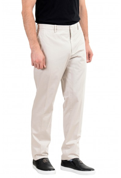 Burberry Men's Ivory Stretch Casual Pants: Picture 2