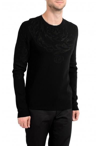 Versace Collection Men's Designed Black Crewneck Sweater: Picture 2