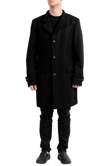 "Hugo Boss ""Sintrax1"" Men's Wool Black Four Button Coat"