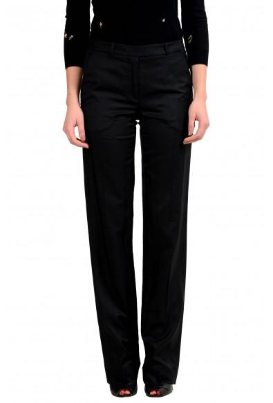 Maison Margiela 4 Women's Usual Shape Wool Silk Black Dress Pants