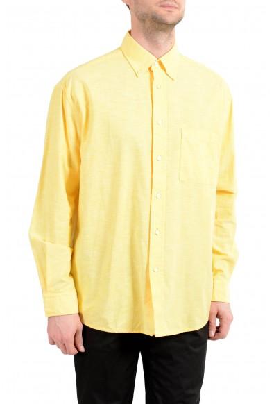 "Hugo Boss ""Leight"" Men's Yellow Relaxed Long Sleeve Casual Shirt"