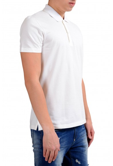 Malo Men's White Stretch Short Sleeve Stretch Polo Shirt : Picture 2