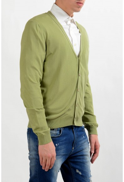Malo Men's Light Green Cardigan Sweater: Picture 2