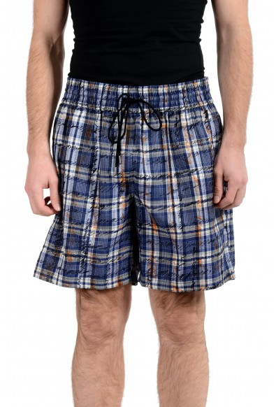 Burberry Men's 100% Silk Graphic Casual Shorts