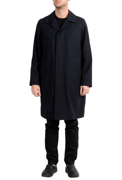 """Hugo Boss """"Gustav"""" Men's Wool Navy Blue Trench Coat"""