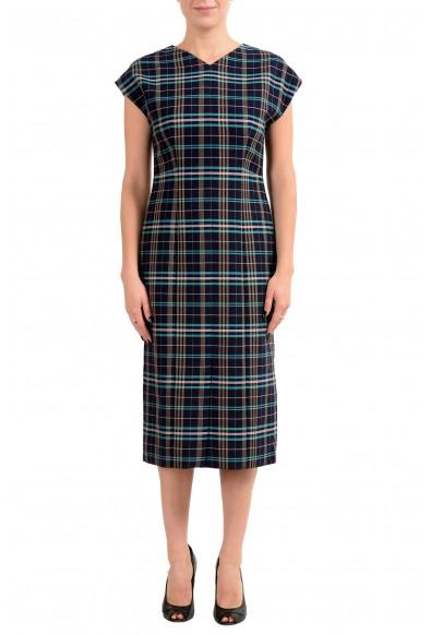 "Hugo Boss ""Daela"" Women's Plaid Sleeveless Sheath Dress"