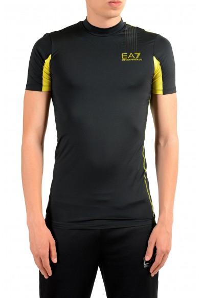 "Emporio Armani EA7 ""Tech M"" Men's Black High Neck T-Shirt"